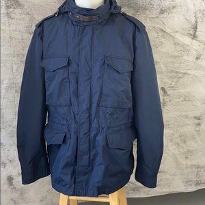 Burberry Brit navy men's jacket with hood -XXL